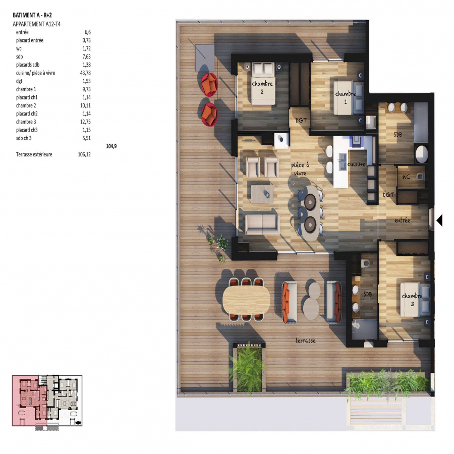Image_4, Appartement, Porto-Vecchio, ref :100818-A12-B12-19