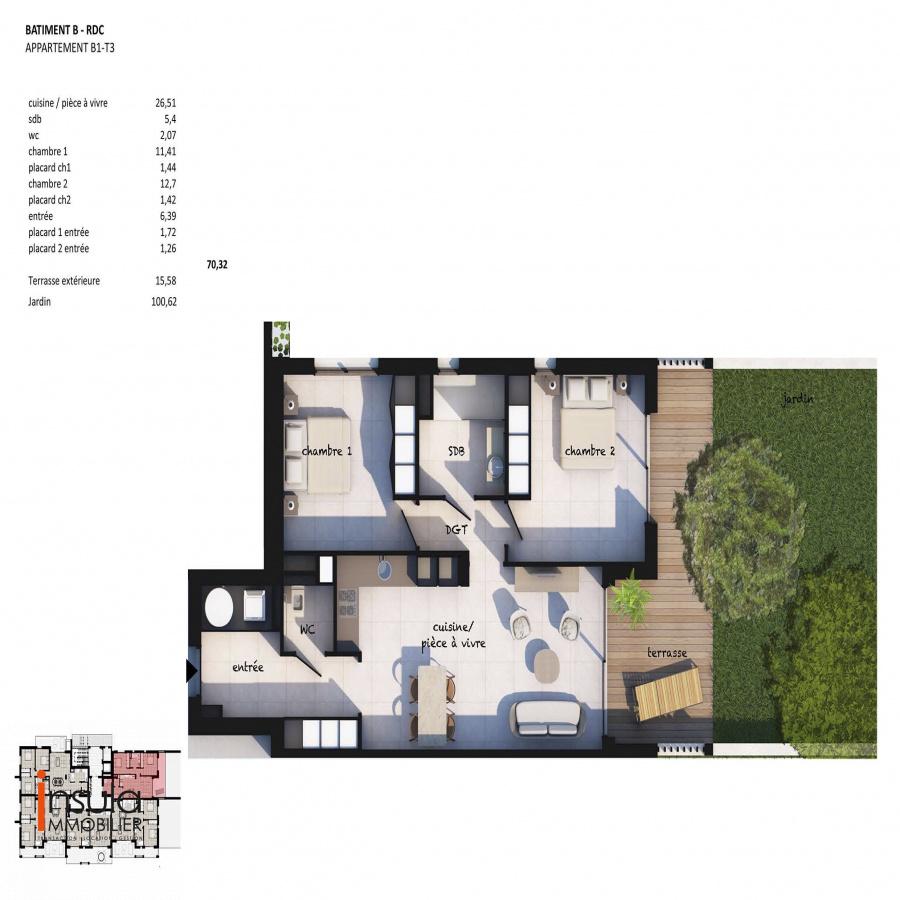 Image_1, Appartement, Porto-Vecchio, ref :100818- A1-B1-20