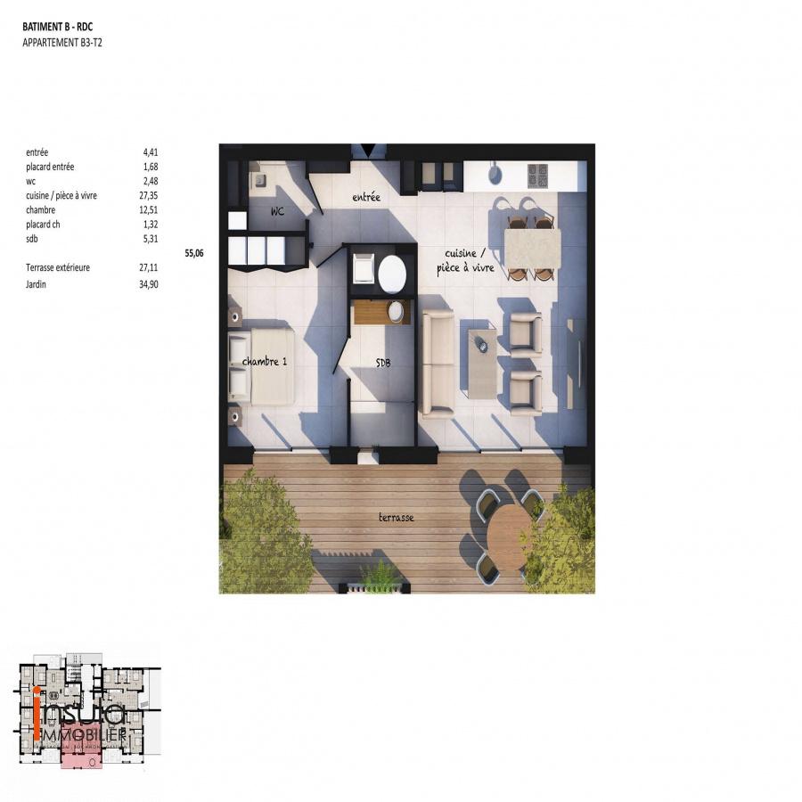 Image_4, Appartement, Porto-Vecchio, ref :100818-A3-B3-20